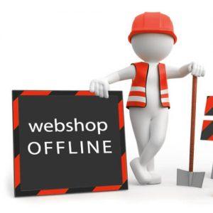 Webshop tijdelijk offline